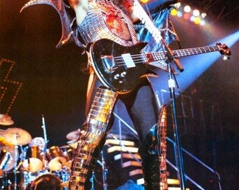 KISS Gene Simmons ALIVE II Era Poster Stand-Up Display - Kiss Band Kiss Collectibles Memorabilia Gift Idea Retro Poster Pintrest kiss76