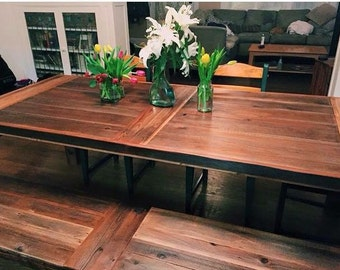 Reclaimed Wood Farm Table - Vineyard