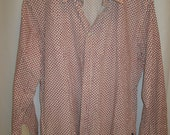 """vintage, PAUL SMITH jeans red dot long sleeve slim fit mens button front sport shirt size XXL or 18.5"""" X 37"""""""