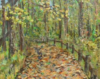 "Radnor Lake Historic Trail Nashville ORIGINAL 12"" x 12"" Acrylic Painting"