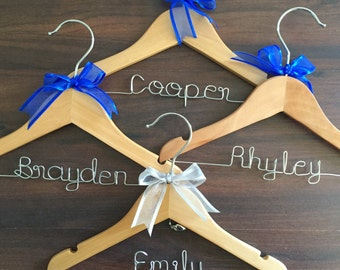 Personalised Coat Hanger for Baby; Wire Name Hanger; baby gift; flower girl hanger; page boy gift; flower girl coat hanger; kids coat hanger