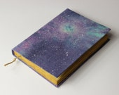 galaxy  - handmade journal, notebook, stars, diary, cosmos, universe, old paper