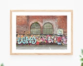 Graffiti Brick Wall Printable Wall Art Street Art City Urban Photo Instant Download Colourful Wall Decor Modern Wall Art Printable Art