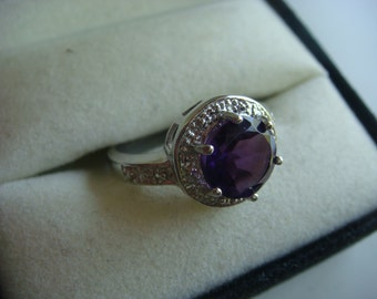 Purple Amethyst in Silver