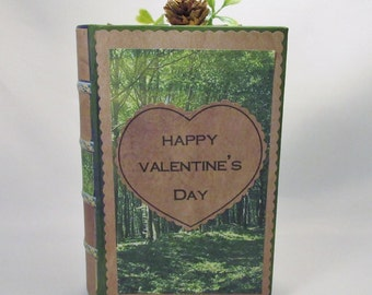 Owl in the Forest 3 Dimensional Valantine's Day Greeting Card Bookbox