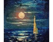 "633  miniature  art, 1""x 1""  original miniature oil painting on 1/8 artist board."