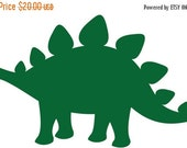 Back To School SALE Vinyl Wall Art Decal Custom Stickers - The Stone Age - Stegosaurus