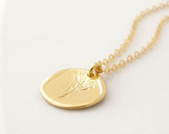 Gold Coin Necklace, Delicate Gold Necklace