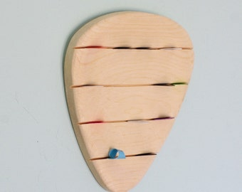 Guitar Pick - Wood Guitar Pick - Guitar Pick Wall Art - Giant Wooden Pick