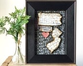 State Map and Heart - Long Distance Relationship - Anniversary Gift Men/Husband  - Personalized Picture Frame - Love Quote Decor