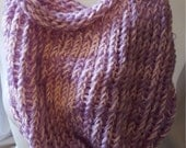 Pink and Purple Loom Knit Bag