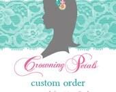 Custom headband for marybeth