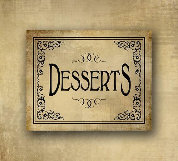 Wedding Dessert Table Sign: Dessert Bar Sign Wedding Sweets Table Wedding Desserts