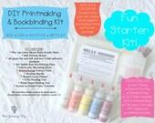 SALE DIY Printmaking & Bookbinding Kit with Self-Paced Online Workshop