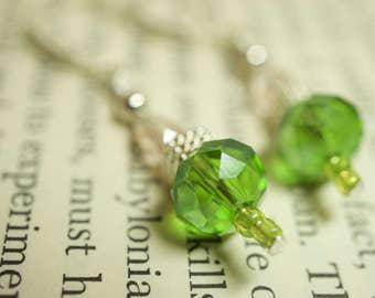 007 Crystal Earrings in Green
