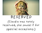 Reserved for Sweet Pea