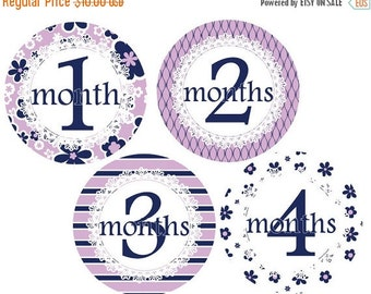 Sale Girl Monthly Stickers, Baby Monthly Stickers, Baby Month Stickers, Baby Stickers, Milestone Stickers, Month Stickers