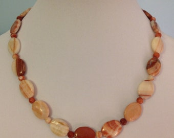 Italian Onyx Beaded Necklace and Earrings