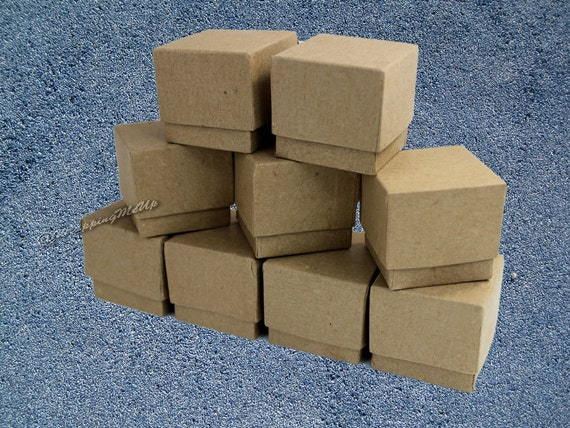 100 Pack Jewelry Presentation Cotton Filled Boxes size 2x2x2 Gift and Retail Wholesale