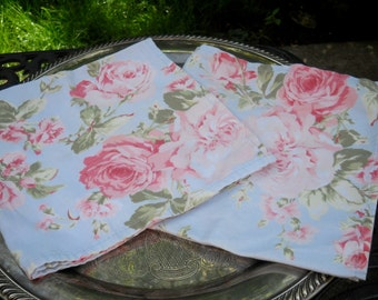 Retro Cabbage Rose Cloth Napkins, Retro Roses, Shabby Chic