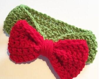 Crochet Bow Accent Headband