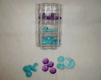 Plastic Canister with Beads for Jewelry Making