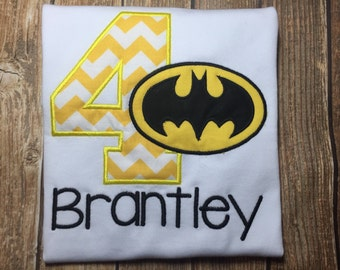 Boys batman birthday shirt