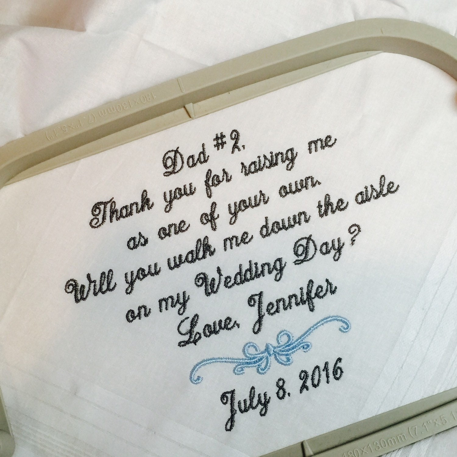 Will You Walk Me Down Aisle Raising Gift For Stepfather
