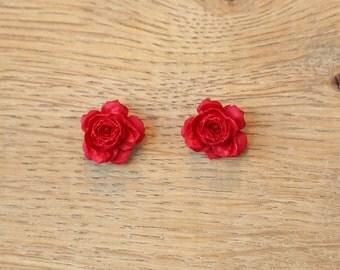 Rose Earrings in various colours