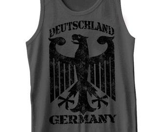 Deutschland Germany Tank Top Vintage German Crest Tank Tee Shirt Tshirt S-2XL Great Gift Idea