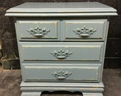 Distressed Blues Nightstand