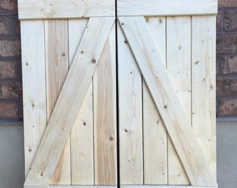 "2 Tall Pine Shutters 14"" x 37"" Unpainted"