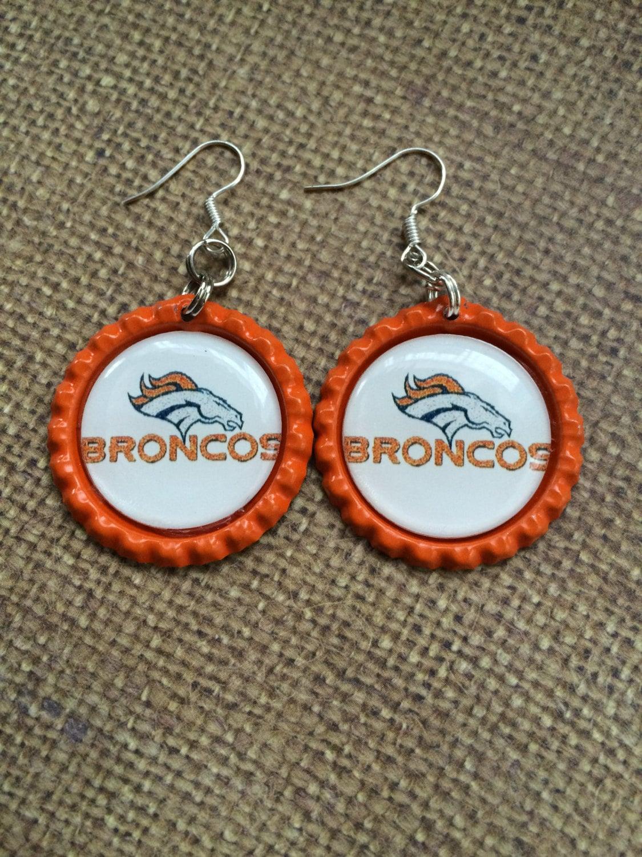 denver broncos earrings denver broncos jewelry denver