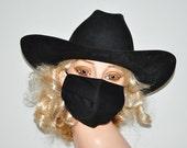 Black working mask, face mask, dirt mask, dust mask, washable, breath easy, dog groomer