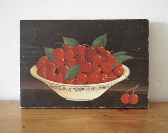 Still Life Painting- Fruit Bowl - Print on Wood