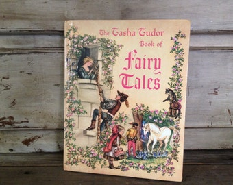1960s Tasha Tudor Book of Fairy Tales Hardcover Childrens Book Illustrated