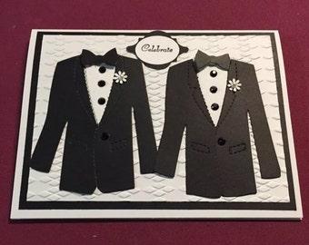 Gay Wedding Card...Celebrate...Hand made