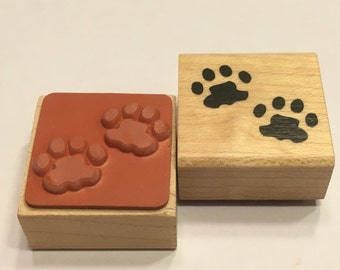small paw prints rubber stamp, 25 mm (BB4/1)
