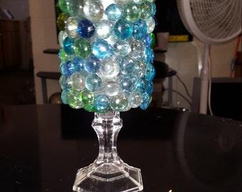 Gem vase candle holder