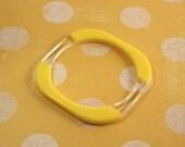Avon Summer Rainbow Yellow Bangle Bracelet  - Vintage 1978