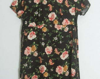 90s Floral print dress  size 9/10