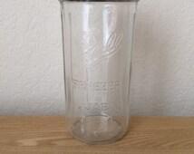 Vintage Ball Freezer Canning Jar Zinc Lid, Ribbed Sides -Rustic