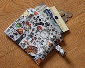 Small Studio Ghibli chaarcter print zipper coin purse pouch