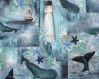 Fabriquilt fabric LIGHTHOUSES and WHALES