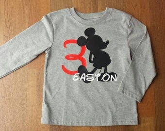Mickey Mouse personalized Birthday Shirt, Short Sleeve