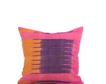 14 x 14 Pillow Cover Ikat Pillow Cover Old Ikat Pillow Cover Throw Pillow Decorative Pillow FAST SHIPMENT with ups or fedex - 09031