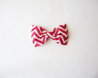 Magenta Chevron Bow