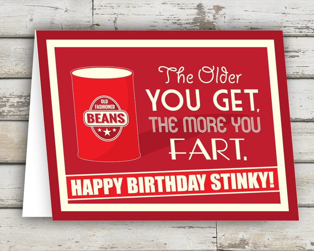Happy birthday stinky funny birthday card birthday card fart happy birthday stinky funny birthday card birthday card fart old birthday card friend card for him card for her over the hill bookmarktalkfo Image collections