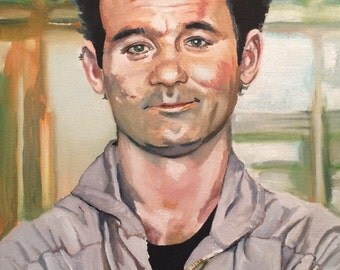Bill Murray as Peter Venkman in Ghostbusters oil painting and prints