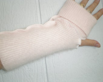 Fluffy ANGORA arm warmers, angora fingerless gloves, long arm warmers, armwarmers, 11 inch, pink gloves